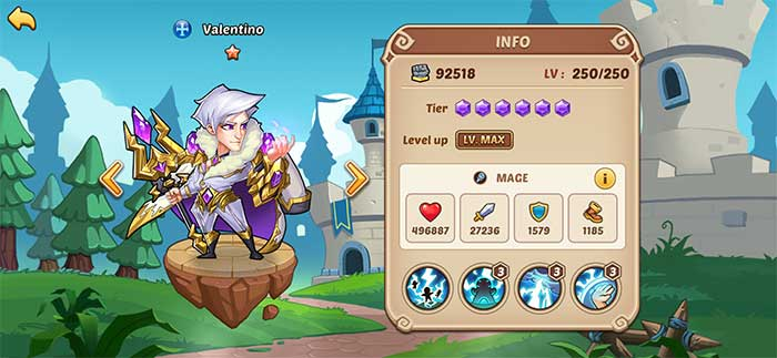 Valentino - Idle Heroes Guide