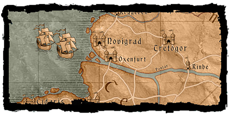 The Witcher 3 map of Velen/Novigrad