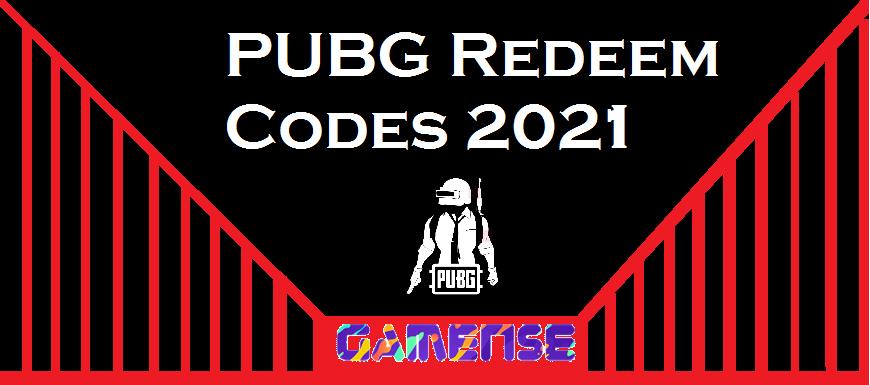 PUBG Redeem Codes 2021