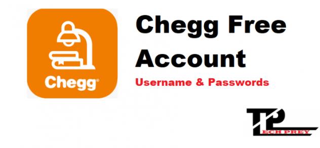 chegg username and password