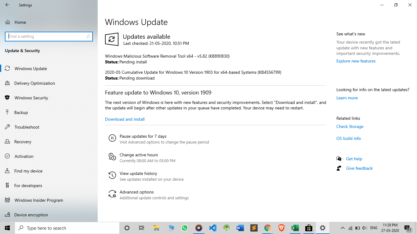 Windows Update to Play games