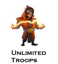 coc unlimited troops